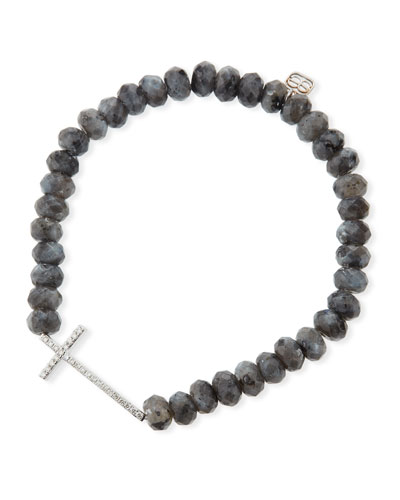 Sideways Cross Beaded Bracelet