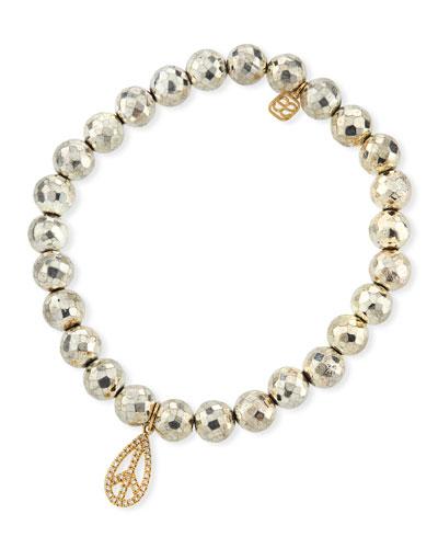 Diamond Peace Teardrop Bracelet