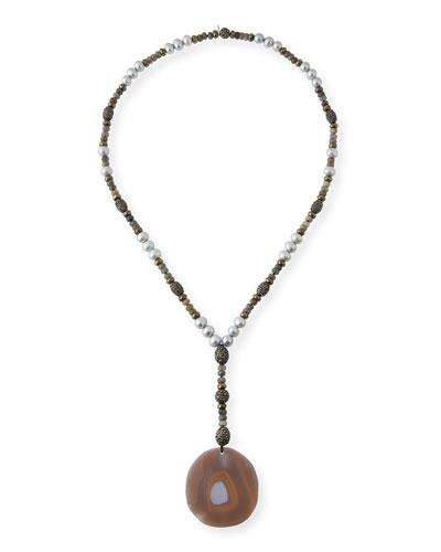 Ibiza Sliced Agate Pendant Necklace