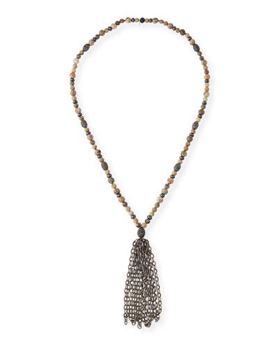 St. Barths Chain Tassel Necklace