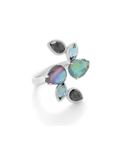 925 Rock Candy Six-Stone Open Ring in Eclipse