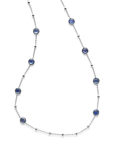 Rock Candy Lolli Ball and Stone Station Necklace in Royal, 38