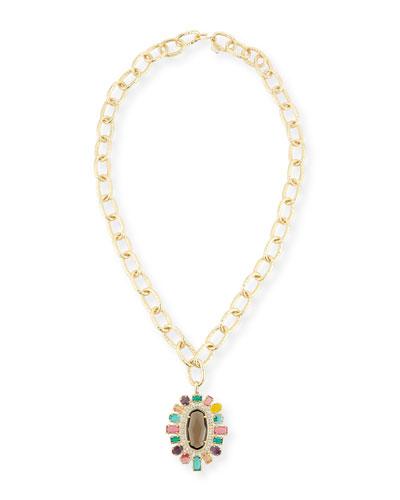 Shanda Crystal Statement Necklace