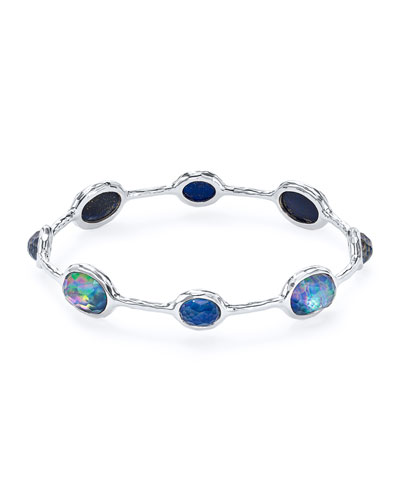 925 Rock Candy Eight-Stone Bangle in Lapis Triplet