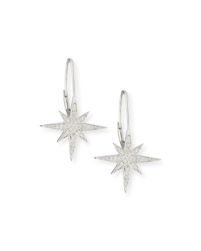Pavé Diamond Starburst Earrings