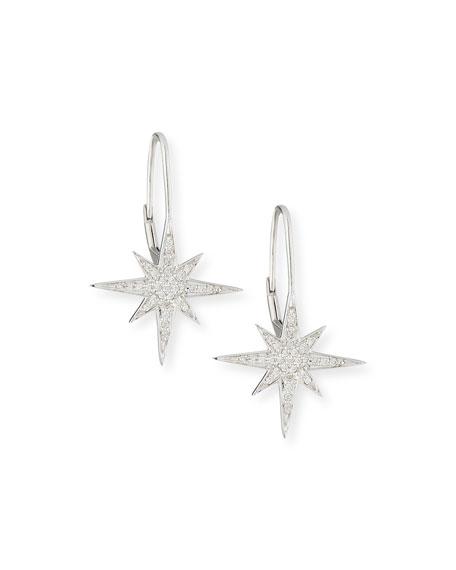 Sydney Evan Pave Diamond Starburst Earrings