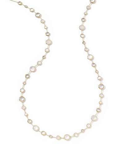 18k Gold Lollitini Long Necklace in Flirt, 36