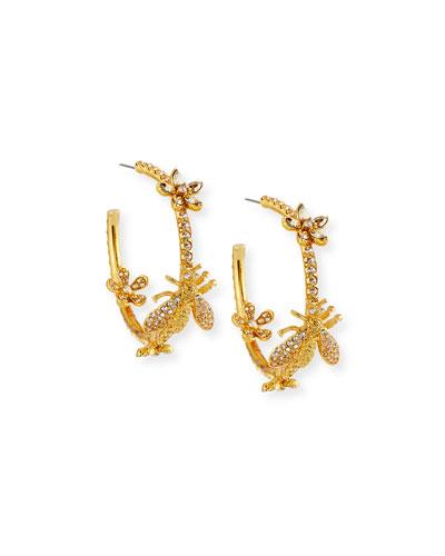 Pavé Crystal Garland Hoop Earrings