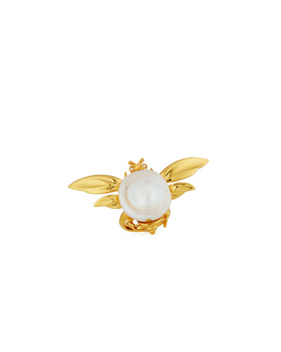 Critters Fly Pearl Ring