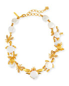 Golden Pearl Critters Necklace