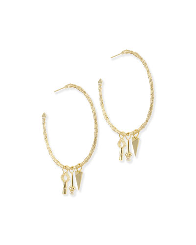 Shiloh Charm Hoop Earrings