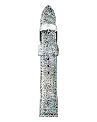 16mm Snakeskin Watch Strap in Fog Gray
