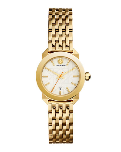 Whitney Bracelet Strap Watch, Golden/White