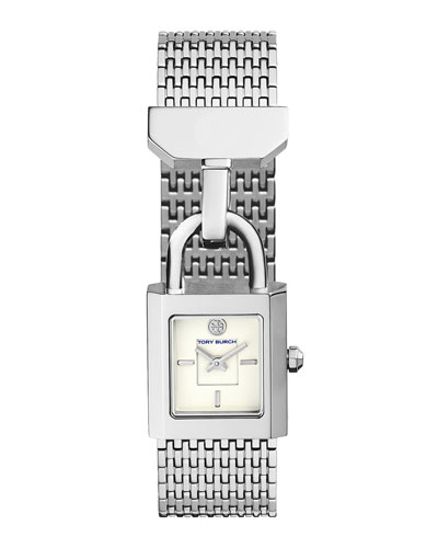 Surrey Padlock Multilink Bracelet Watch, Silvertone