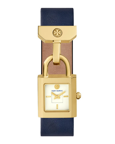 Surrey Padlock Multilink Bracelet Watch, Navy/Golden