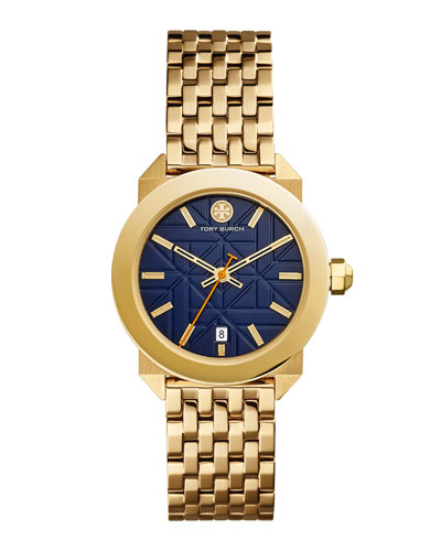 Whitney Bracelet Strap Watch, Golden/Navy