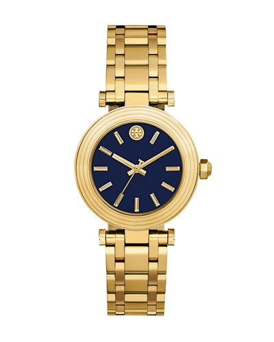 The Classic T Bracelet Watch, Golden/Navy