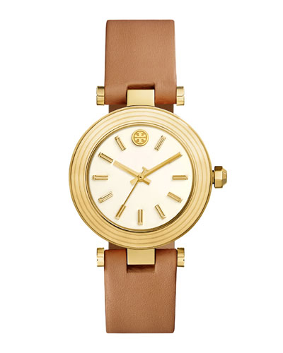 Classic T Stainless Steel Watch, Light Brown/Golden