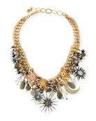 Celestial Crystal Statement Necklace