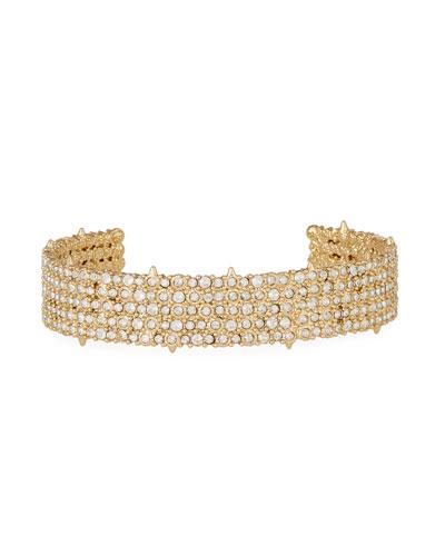 Pavé Crystal Cuff Bracelet