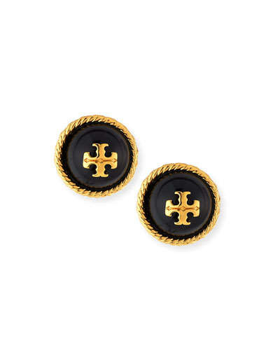 Rope Logo Stud Earrings