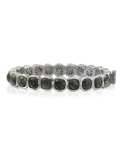 Rutilated Quartz Doublet Station Bracelet