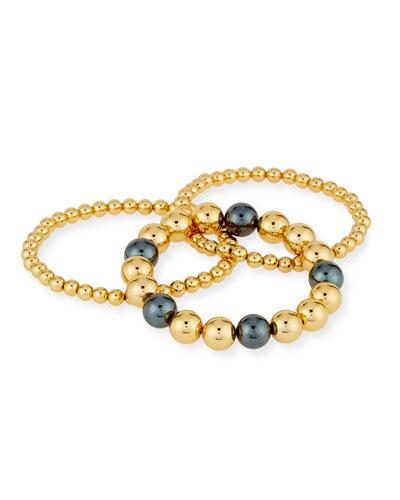 Newport Beaded Bracelets, Set of 3