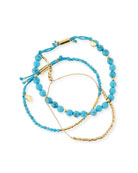Power Gemstones Laguna Turquoise Beaded Bracelets, Set of 3