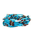 On the Bead Beaded Bracelet, Turquoise Color