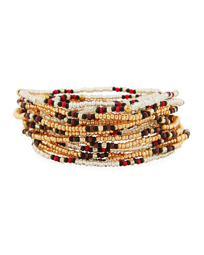 On the Bead Beaded Bracelet, Golden