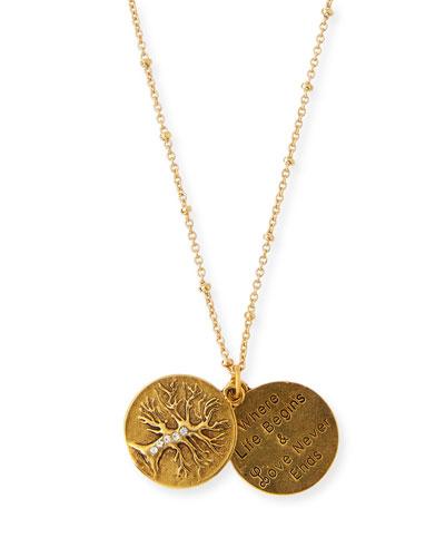 Sequin Bird Charm Talisman Pendant Necklace 2Hkgt