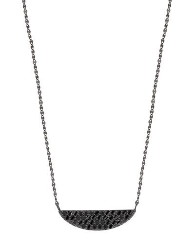 Lana Jewelry 14k Black Gold Tsavorite Crossary Necklace APNwV72gFo