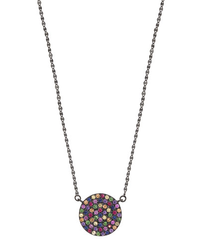 Electric Femme Sapphire Necklace in 14K Black Gold