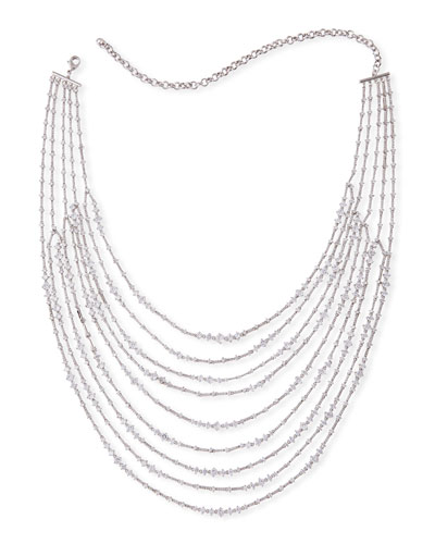 d cut necklace chain diamond strand multi silver sevilla products bead