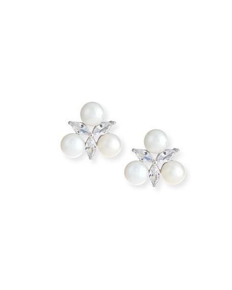Fallon Monarch Pearly Cluster Earrings