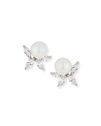 Monarch Pearly Starburst Crystal Earrings