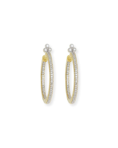 Provence Medium Pave Diamond Hoop Earrings