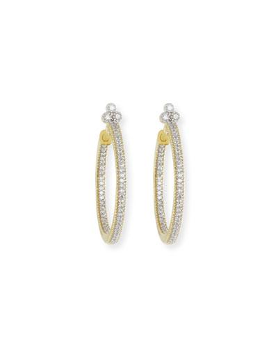 Provence Medium Pavé Diamond Hoop Earrings