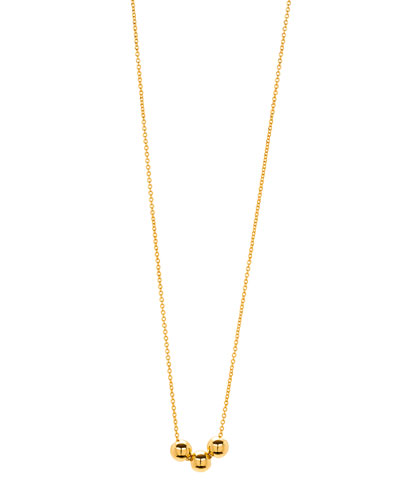 Newport Three-Bead Golden Adjustable Necklace