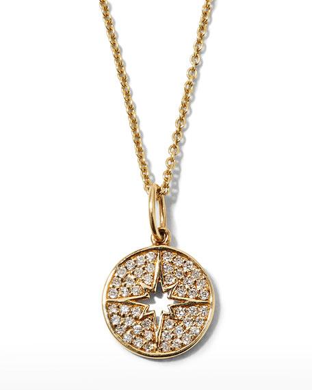Sydney Evan Anniversary Small Starburst Medallion Necklace with Diamonds