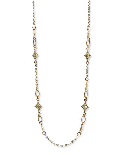 Old World Sueno Crivelli Toggle Lariat Necklace