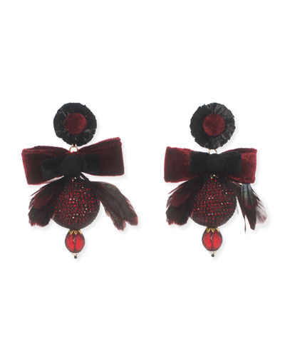 Penina Bow Statement Clip-On Earrings
