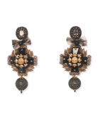 Ebony Statement Clip-On Earrings