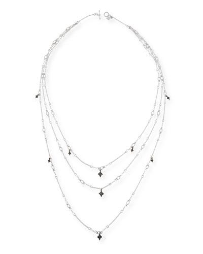 New World Triple-Strand Crivelli Necklace with Diamonds