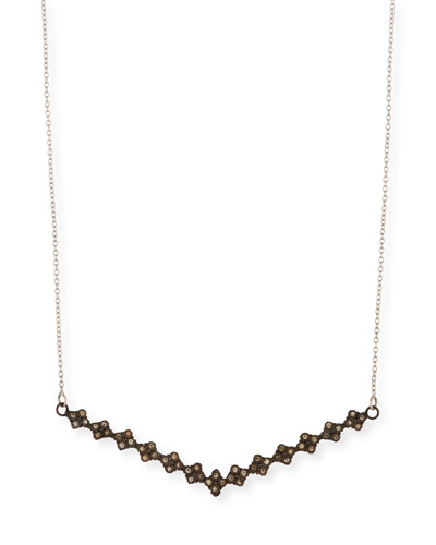 Armenta New World V Bar Necklace with Champagne Diamonds KIYbdEA
