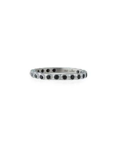 New World Black Spinel Stacking Ring