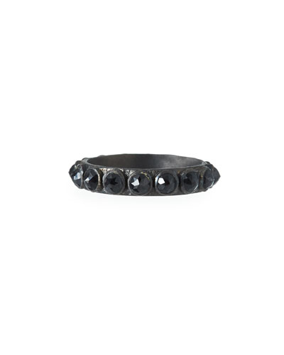 New World Black Stacking Ring