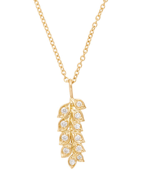 Jamie Wolf 18K Gold Vine Pendant Necklace with Diamonds