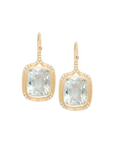 bb819fbb2 Quick Look. Jamie Wolf · Cushion-Cut Green Amethyst Drop Earrings with  Diamonds