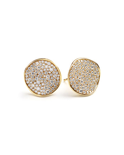 Stardust Pavé Diamond Wavy Disc Earrings
